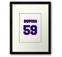 National Hockey player Philippe Dupuis jersey 59 Framed Print