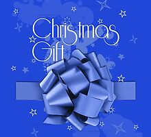 Christmas Blue Gift by refreshdesign