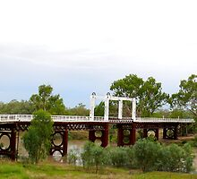 Flood Waters Rising-Old North Bourke Bridge by JulieMahony