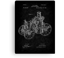 1896 Tarr Steam Fire Engine Patent Art-BK Canvas Print