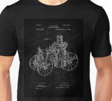 1896 Tarr Steam Fire Engine Patent Art-BK Unisex T-Shirt
