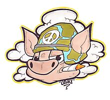 Peace Pig Oink! Photographic Print