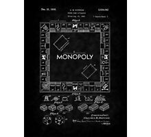 1935 Monopoly Board Game Patent-BK Photographic Print