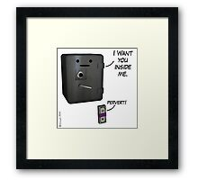 Past Expiry Cartoon : Get inside Framed Print