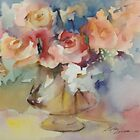 Roses 12x16 watercolor by alpha larracas
