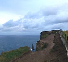 Indent at the Cliffs of Moher, Co. Kerry, Ireland by aerandirbaiza