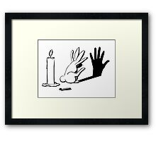 Shadow Rabbit by lightiilusions.com Framed Print