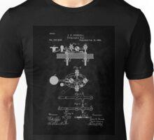 1881 Telegraph Key Patent Art-BK Unisex T-Shirt