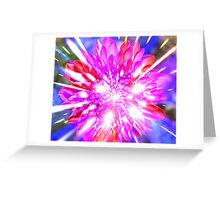 exploding flower Greeting Card