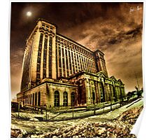 Michigan Central Train Station Poster