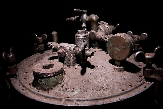 Old Mine Equipment by doorfrontphotos