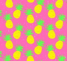 Pink Prickly Pineapples by ME Design Studio