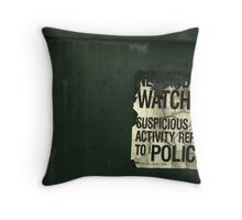 Suspicious Activity Throw Pillow