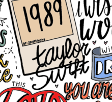 taylor swift collage COLORED Sticker