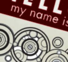 Hello My Name Is -Doctor Who Sticker
