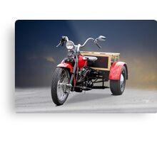 1947 Harley Davidson 'Servi Car' Trike Metal Print
