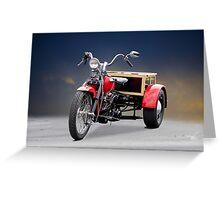 1947 Harley Davidson 'Servi Car' Trike Greeting Card