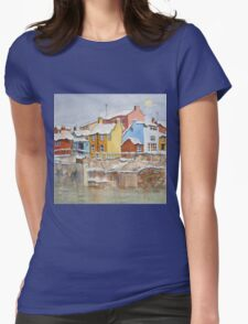 Snow on the Rooftops Womens Fitted T-Shirt