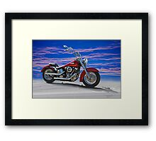 2000 Harley Davidson 'Soft Tail' Motorcycle Framed Print