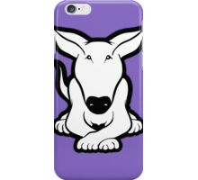 English Bull Terrier Crossed Paws  iPhone Case/Skin