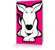 English Bull Terrier Crossed Paws  Greeting Card