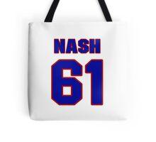 National Hockey player Rick Nash jersey 61 Tote Bag