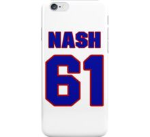 National Hockey player Rick Nash jersey 61 iPhone Case/Skin
