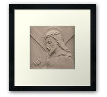 Jesus Carried The Cross For You Framed Print
