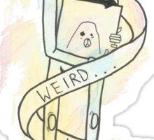 Weird Kids Robot - We Are The In Crowd Sticker