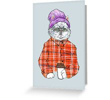 Obnoxious Third Wave Coffee Cat Greeting Card