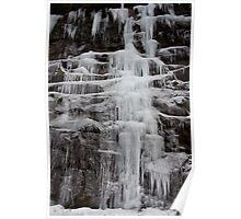 Winter Runoff Series:  Frozen Cliffs II Poster