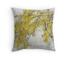 Winter Jasmine Throw Pillow