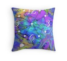 Mother of Pearl Clock Throw Pillow