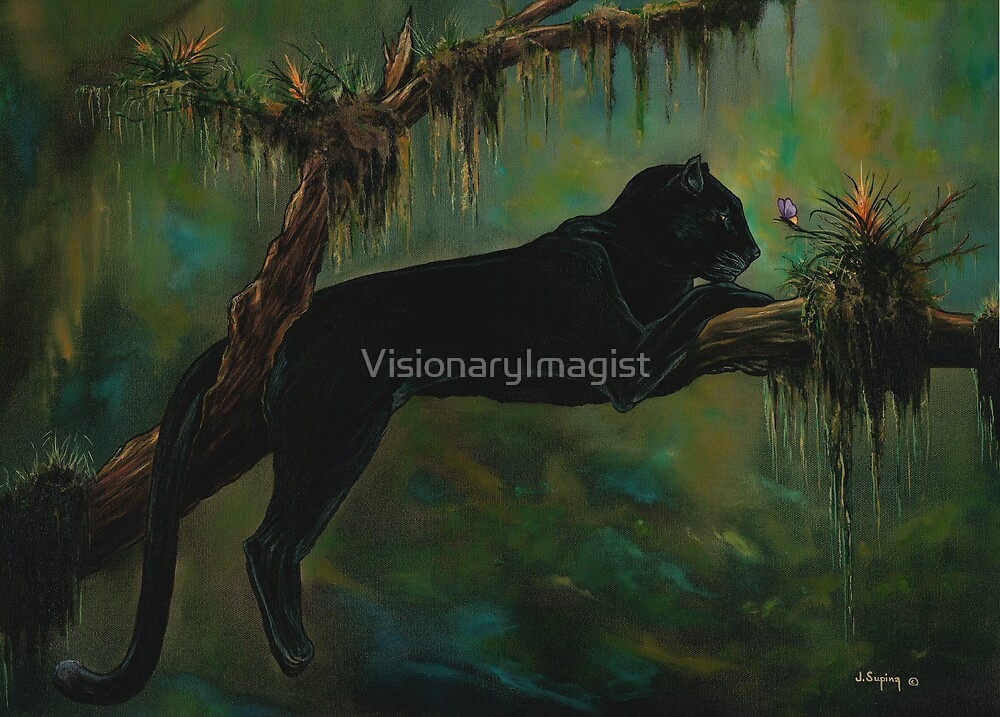 THE BUTTERFLY AND THE PANTHER by VisionaryImagist