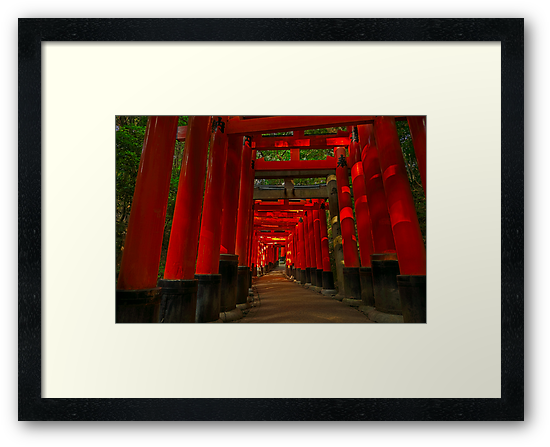 Path at Fushimi-Inari by Yves Rubin