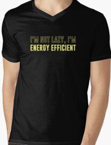 I'm Not Lazy I'm Energy Efficient Mens V-Neck T-Shirt