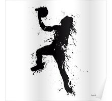 Basketball player inked Poster