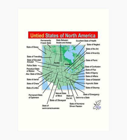 UnTIED States of North America Art Print