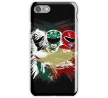 White,Green,Red Rangers iPhone Case/Skin