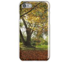 Yellow colors merge into a picturesque scene iPhone Case/Skin