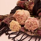 Peonies And Scarf by Sandra Foster