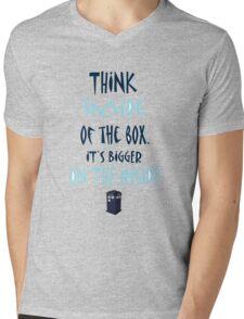 Tardis T-Shirt Mens V-Neck T-Shirt