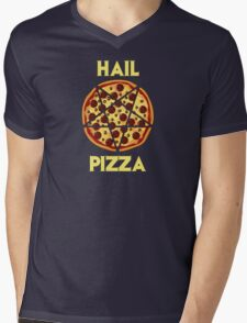 Hail Pizza Mens V-Neck T-Shirt