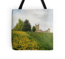 Wildflower meadows lead to Downton abbey Tote Bag