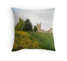 Wildflower meadows lead to Downton abbey Throw Pillow