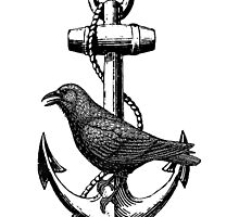 Crow on Anchor by Zehda