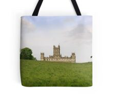 Green rolling hills towards Downton abbey Tote Bag