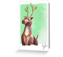 Sometimes Rudolph gets WAY to much attention. Greeting Card