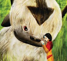Jinora with Bison by pamcaseyart