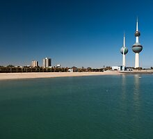 Kuwait Towers from the Pier by Michael Stubbs